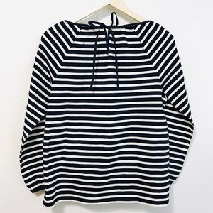 J. Crew Tops - NWT J. Crew Navy and Cream Stripes Top